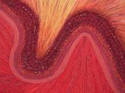 mixte abstrait rouge jaune ondule courbe : Méandre