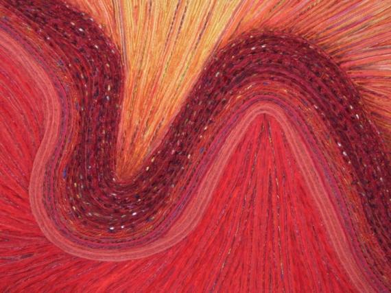 MIXTE rouge Jaune ondulé courbe Abstrait  - Méandre