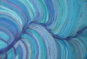 mixte abstrait mouvement bleu ocean eau : Grand bleu