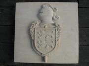sculpture architecture blason gendarmerie pierre : Blason Gendarmerie Normandie en pierre de taille
