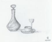 dessin nature morte : Un café?