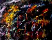 tableau abstrait fine art abstrait lyrique abstrait corse : Illusion