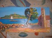tableau marine plage : plage corse
