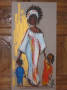 tableau personnages maternite : maman africaine