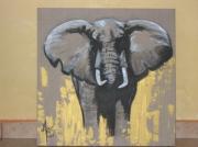 tableau animaux elephant : éléphant d'afrique