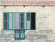 tableau architecture case creole martinique antilles : Façade martiniquaise