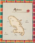 tableau autres carte martinique mer antilles : Carte de la Martinique