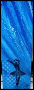 tableau autres danseuse etoiles moderne bleu : Danseuse et toile .
