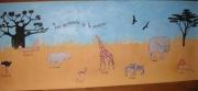 autres animaux animaux enfant savane fresque : les animaux de la savane