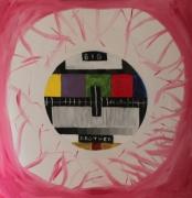 tableau abstrait big brother oeil sanguinolant tv : Big Brother
