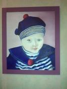tableau personnages tabeau portrait enfant huile : Louise
