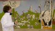 autres paysages panda fresque savane lion : anatole park