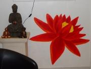 deco design fleurs lotus japon mur deco : fleur de lotus