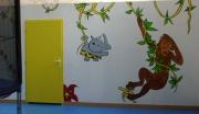 tableau animaux singe peinture murale enfant : anatole park