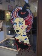 autres personnages : peinture vitrine