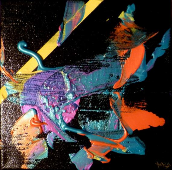 TABLEAU PEINTURE abstrait acrylique irisé flashi Abstrait Acrylique  - Studio