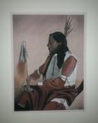 tableau personnages indien amerique portrait : Rose Indien