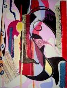 tableau abstrait : Rose mécanique