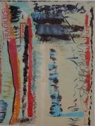 tableau abstrait : Fragiles