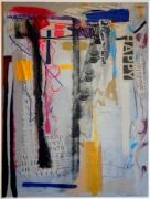 tableau abstrait : Happy
