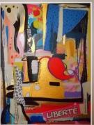 tableau abstrait : Liberté