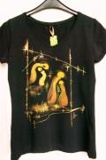 art textile mode abstrait peinture originale tshirt personnalise : Présence