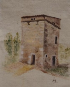 artisanat dart architecture pigeonnier toile brute peinture marais poitevin : La fuye