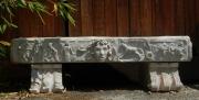 sculpture personnages banc exterieur pierre : banc antique