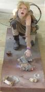 sculpture personnages bomb kamikaze women : bombe humaine