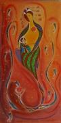 dessin personnages maternite enfant naissance amour : Maternité 2