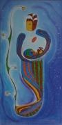 dessin personnages paternite amour enfant naissance : Paternité 1