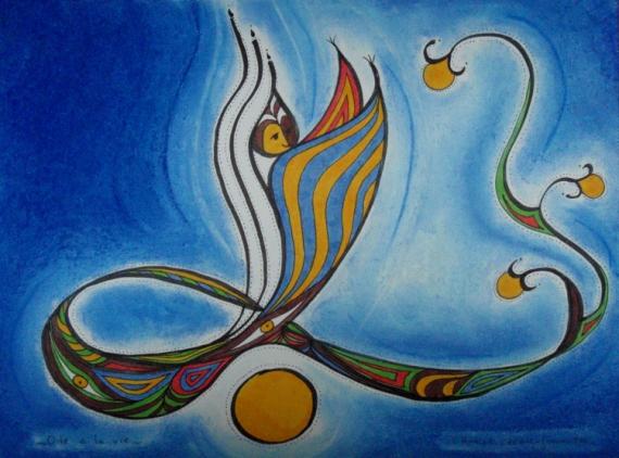 DESSIN calligraphie arabe vie femme  - Ode à la vie