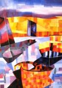 tableau autres port bateaux geometrie : Couleurs sur le Bassin