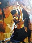 tableau scene de genre salsa rumba rock n roll twist : Tango
