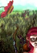 art numerique : arc et l'elf