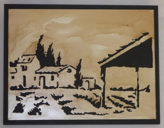 BOIS, MARQUETERIE Paysages  - paysage