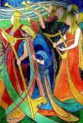 tableau personnages symbolisme musique medieval personnages : Hérauts