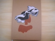 """artisanat dart personnages carnet journal inti peinture acrylique peinture de femme av : Carnet """"Femme au chapeau blanc et noir"""""""