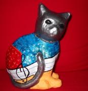 artisanat dart animaux chat decore mudique : chat musical