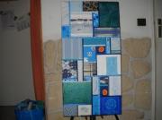 "tableau marine : tableau patchwork ""croisière"""