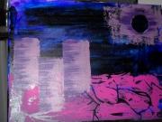 tableau abstrait tableau technique mi pratique picturale graphisme tableau moderne : Tableau collection Extra muros