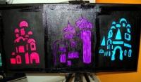 """Tableau peinture à l'huile """"Eglises russes"""""""