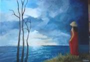 tableau personnages femme mer : les arbres morts
