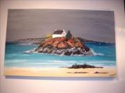 tableau paysages bretagne mer marine nature : Ilôt de Bretagne