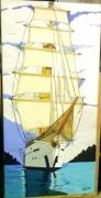 tableau marine bateaux greement nature paysage : Le Star Clipper