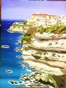 tableau paysages paysage corse marin nature : Les falaises de Bonifacio