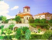 tableau paysages paysage auvergne ermitage vieille brioude : l'Ermitage Saint Vincent