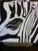 tableau animaux afrique animaux zebre : Oeil de zèbre