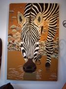 tableau animaux afrique zebre animaux nature : Zèbre assoiffé