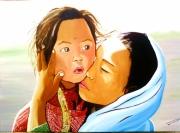 tableau personnages enfant portrait enfant du monde personnages : collection enfants du monde